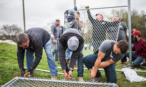 Rio Grande Fence Donates Sports Field Fence to G.O.D. Int'l for Annual Good Friday Service Project
