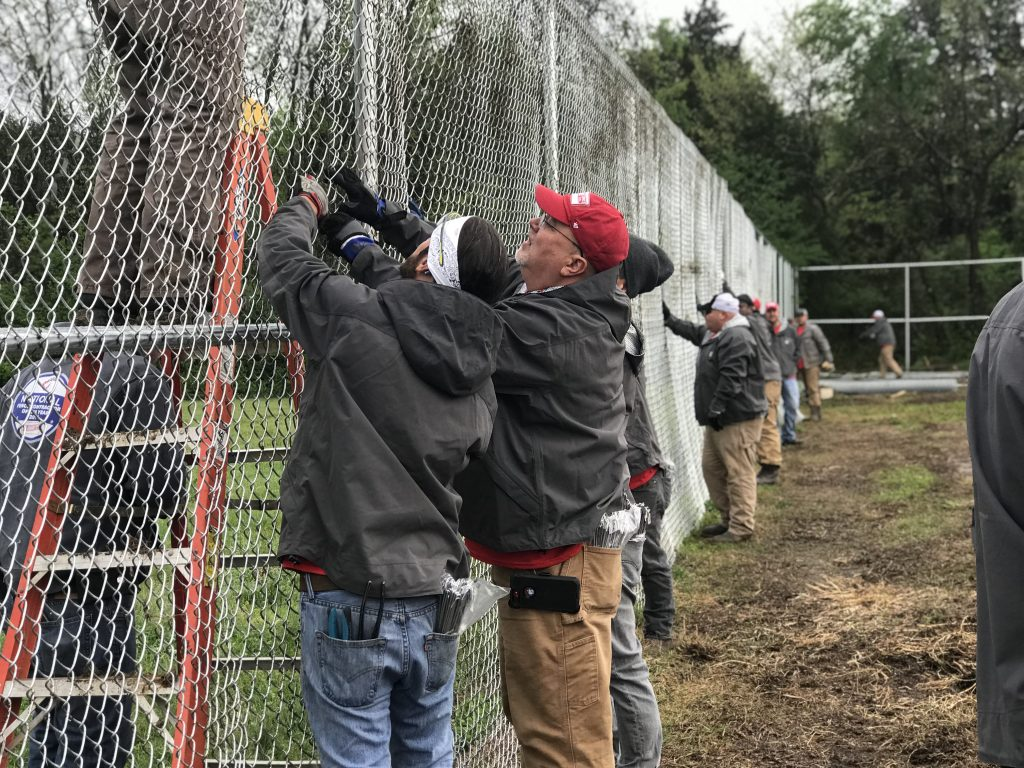 Rio Grande Fence Co. of Nashville Donates 830-Foot Fence to Old School Farm for 5th Annual Good Friday Service Project