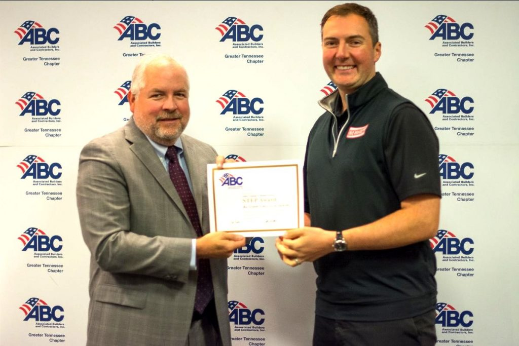 RGF wins Gold Level Safety Award from ABC Greater TN