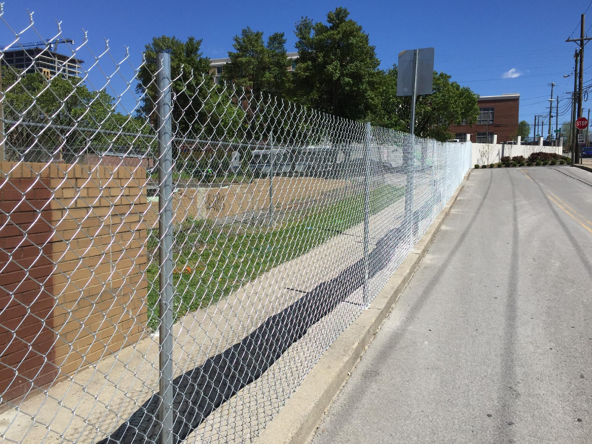 Chain Link Fence with Driven Posts