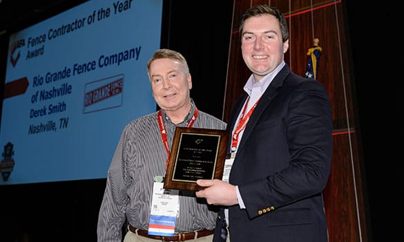 Rio Grande Fence Co. of Nashville Wins Second National Fence Contractor of the Year Award in Three Years