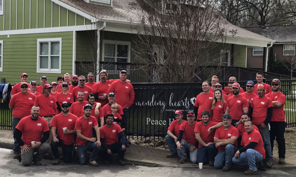 Rio Grande Fence Co. of Nashville Donates and Installs New Perimeter Fence at Mending Hearts Transitional Housing in West Nashville