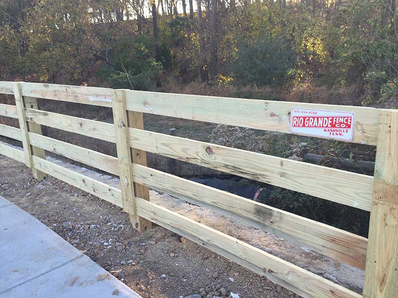 Commercial Wood Fence Spring Hill Franklin Tn Rio
